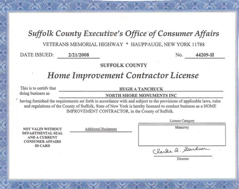 Suffolk Home Improvement Contractor License