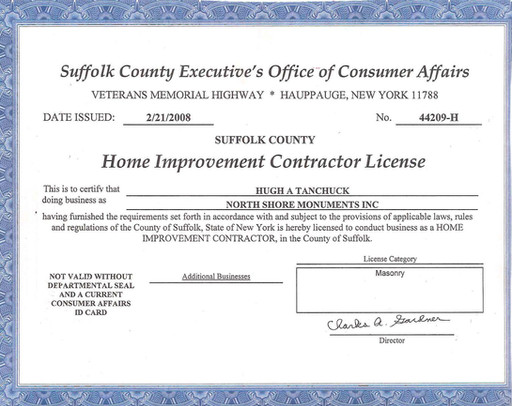Suffolk Home Improvement Contractor License