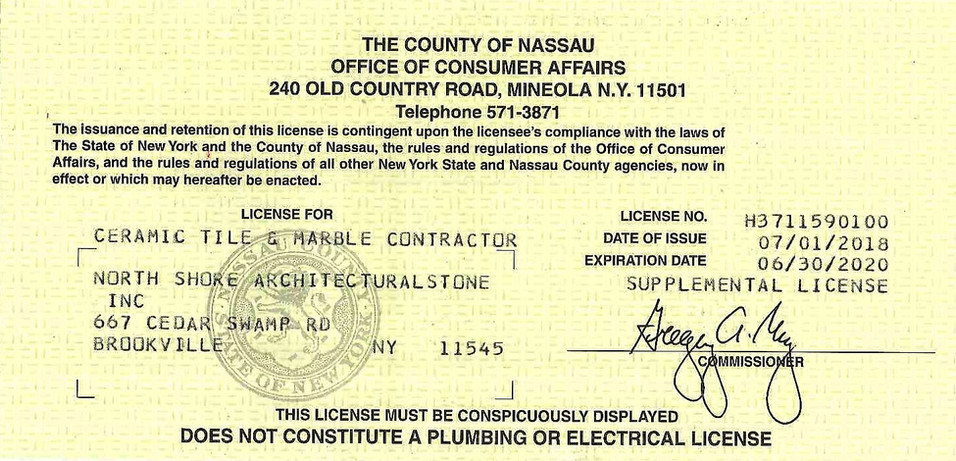 Cermanic Tile and Marble Contractor License