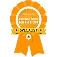 Raw dog food nutrition specialist award