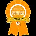 Certified Raw Dog Food Nutrition specialist award