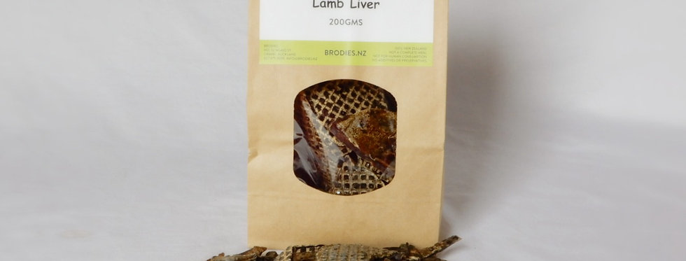 dried liver from Brodie's raw dog food delivery