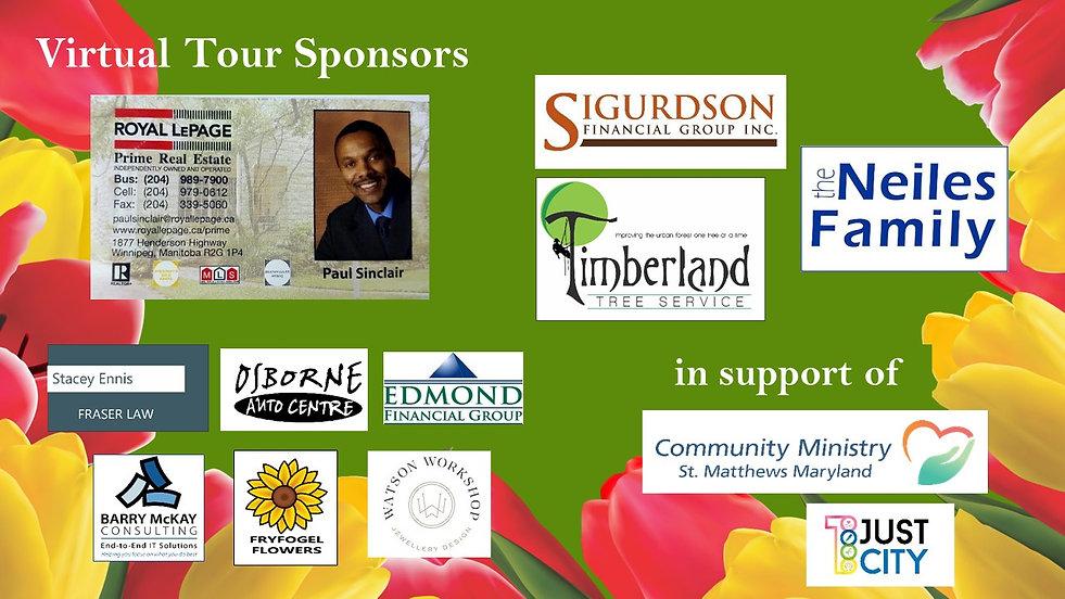 VIrtual Tour sponsors 2021 with Garden T