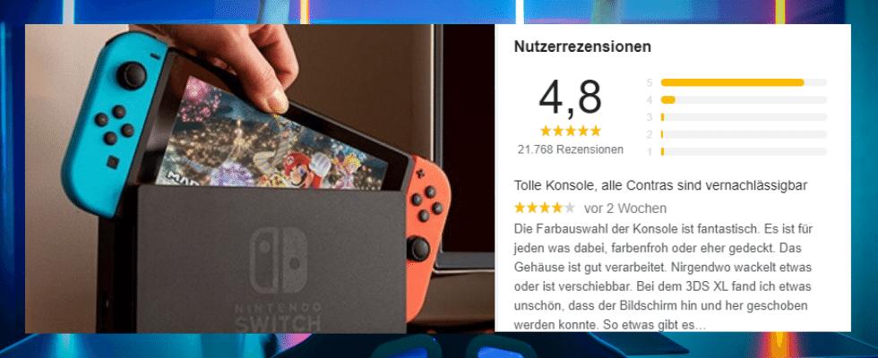 Google Rating Nintendo Switch Konsole