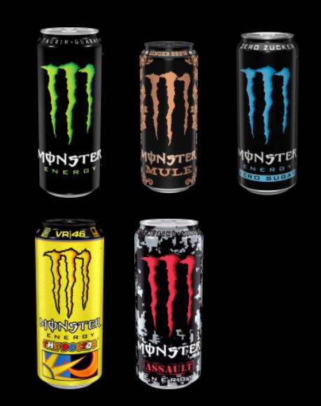 Bild zeigt den Monster Energy Drink