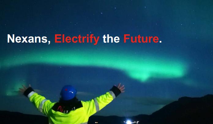 Nexans Aktie - Slogan we electrify the future