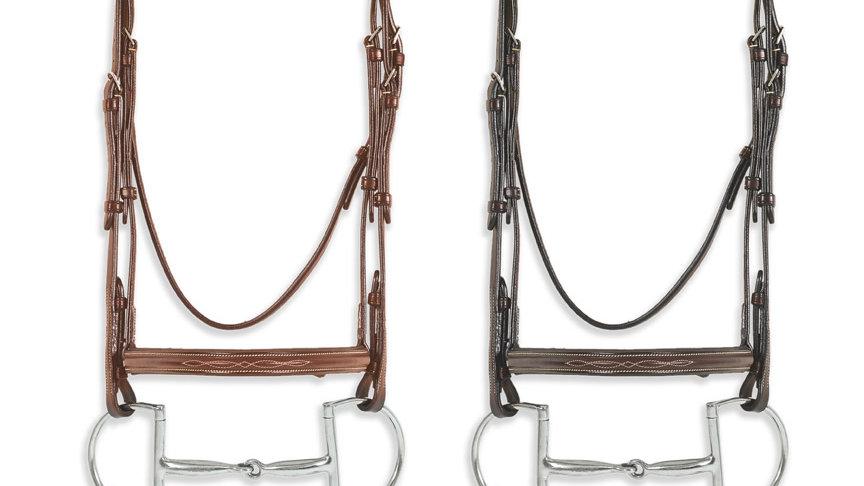 Pessoa Pro Fancy Stitched Raised Bridle