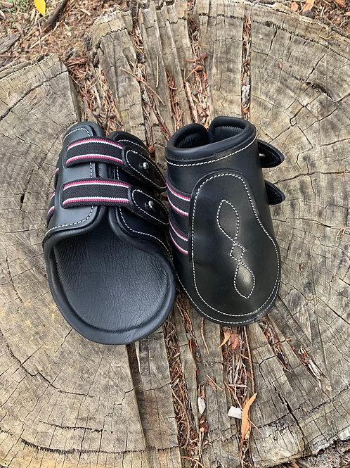 Black Leather Fetlock Boots