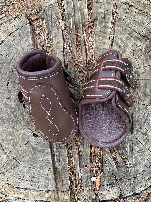 Brown Leather Fetlock Boots