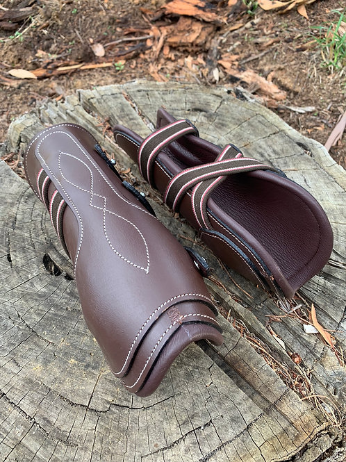 Brown Leather Tendon Boots