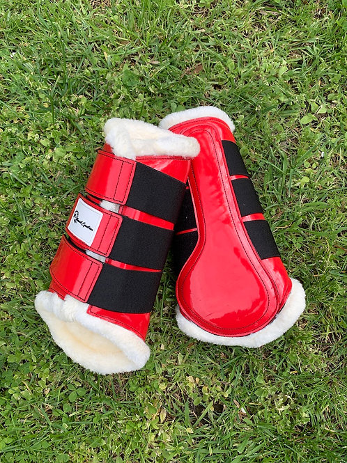 Red Patent Brushing Boots