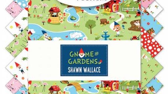"Gnome Gardens by Riley Blake 10"" squares"