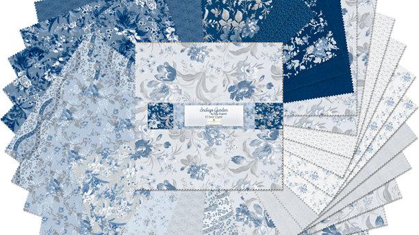 """Indigo Gardens - 10"""" squares"""