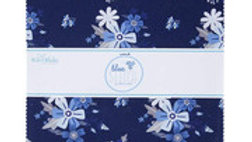 "Blue Stitch by Riley Blake 10"" squares"