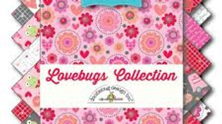 "Love Bugs 5"" squares"