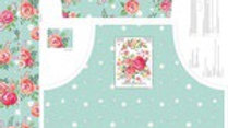 Poppy and Posey mint apron panel