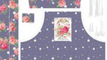Poppy and Posey Amethyst apron panel