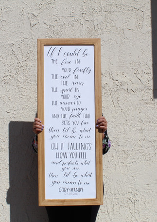 Custom Wedding Song Sign