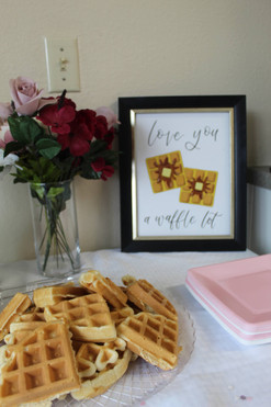 Love You a Waffle Lot Bridal Shower Sign