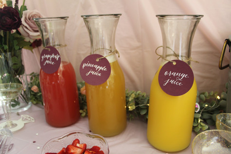 Mimosa Bar Juice Tags