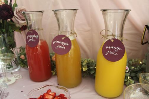 Mimosa Bar Juice Tags