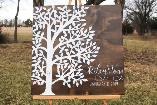 Custom Tree Guestbook on Wood