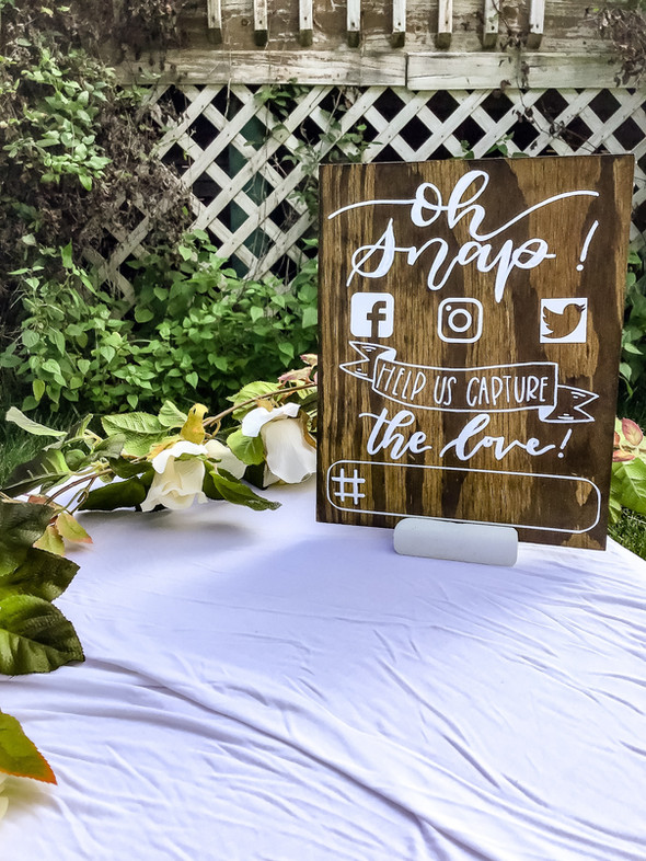 Custom Wedding Hashtag Sign on Wood
