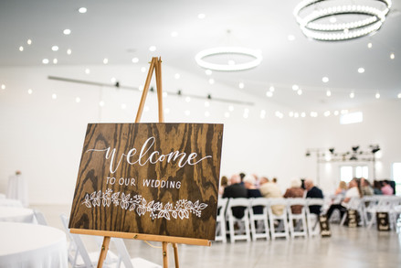Rustic Wood Welcome Sign