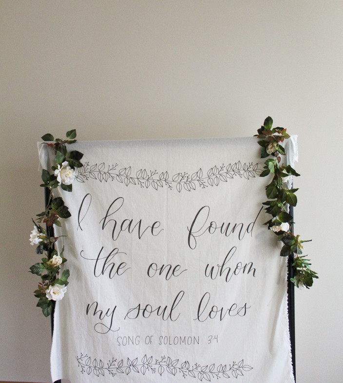 Song of Solomon Hand-lettered Wedding Tapestry