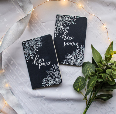 His and Her Vow Booklets