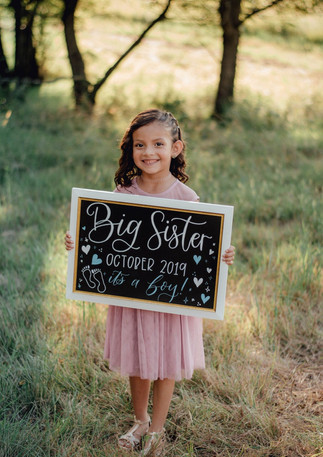 Big Sister Pregnancy Announcement