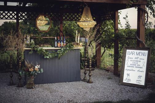 Mirror Bar Menu for Wedding designed by Emily Elle Designs