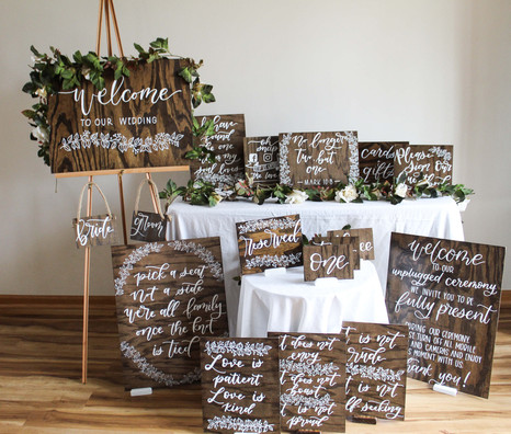 Rustic Wood Wedding Sign Colleciton by Emily Elle Designs