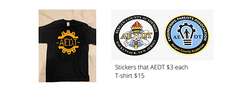 stickers that AEDT $3 each T-shirt $15.p
