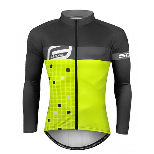 Jersey FORCE SQUARE mangas compridas, cinza fluo