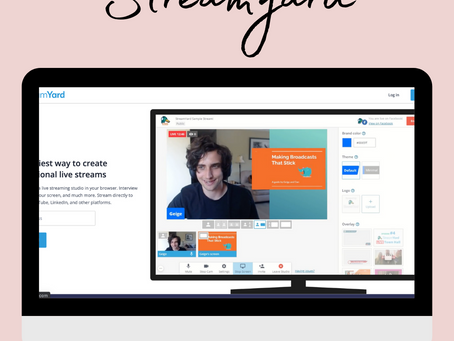 Start Streaming or Recording with Streamyard + Receive a $10 credit