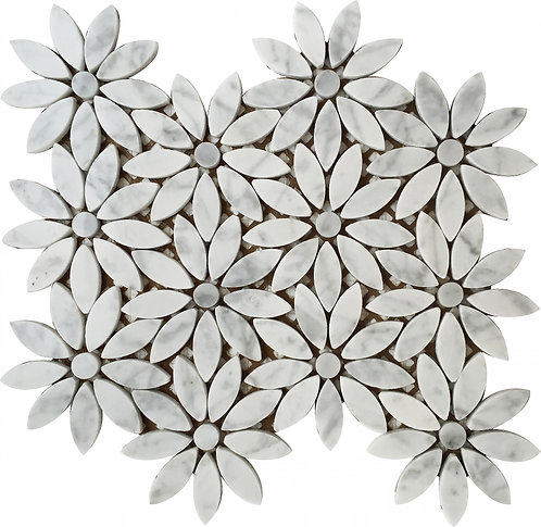 Carrara White Daisy