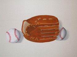 Glove and ball mural