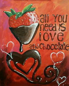 Chocolate for Valentines Paint
