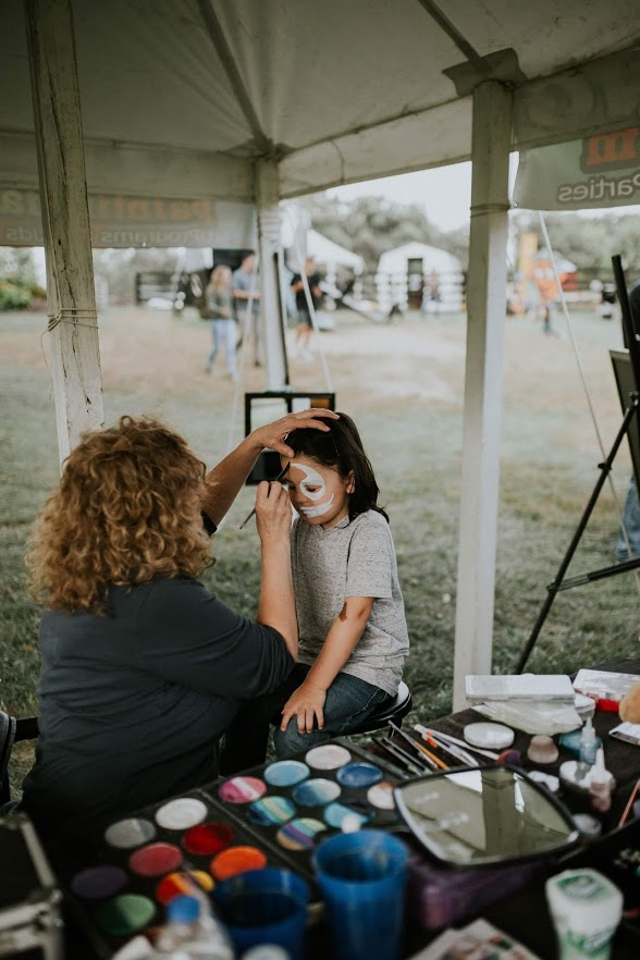 Face painting at festival
