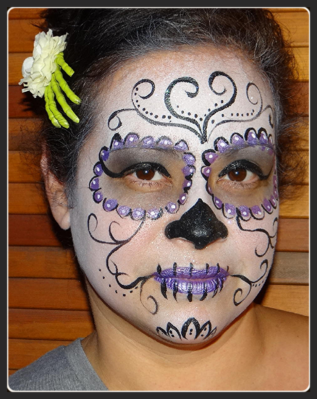 Face painting Sugar Skull 2015-7-4-18:6: