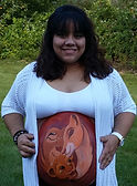 Paint a pregnant belly