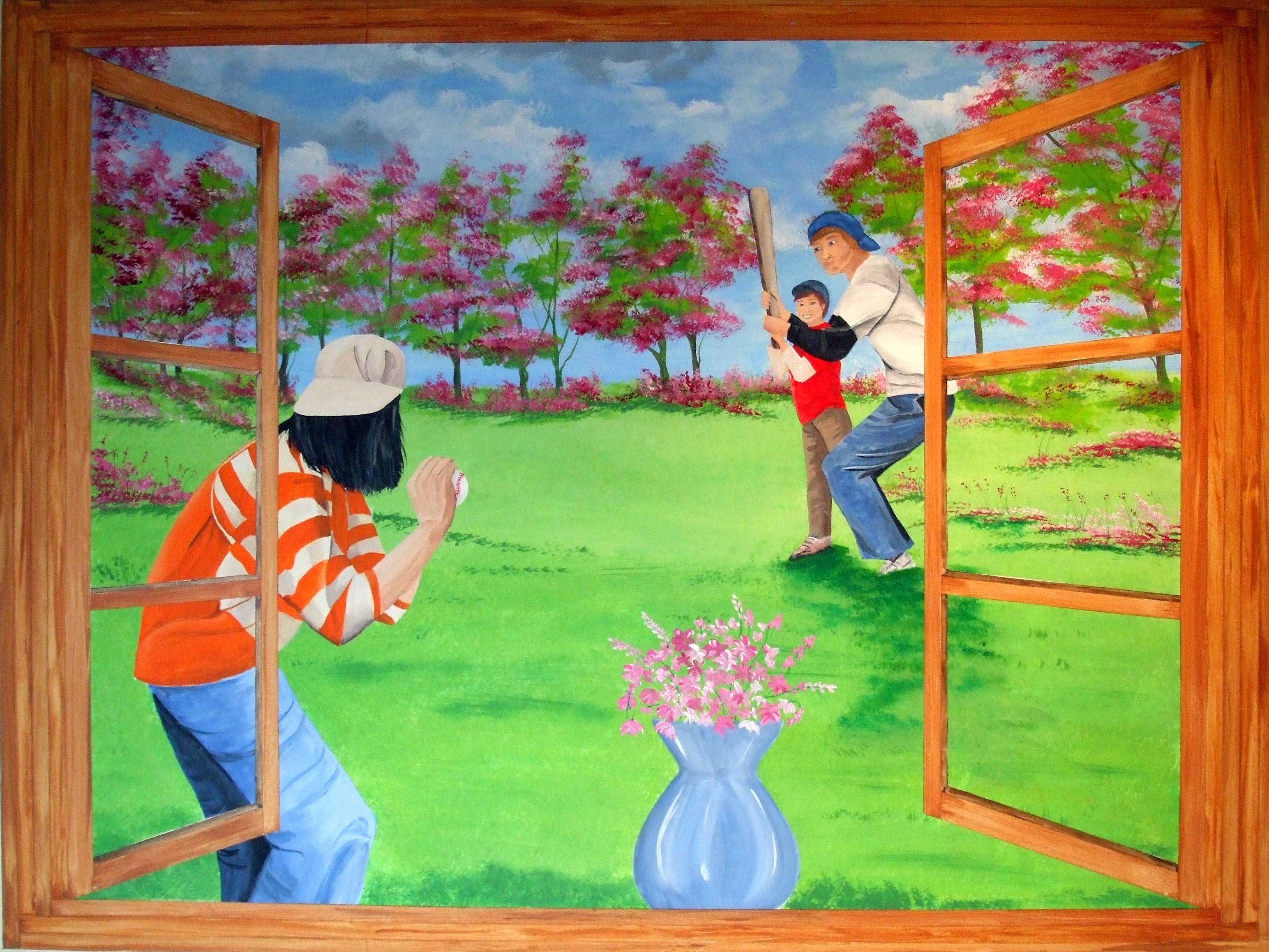 play ball mural