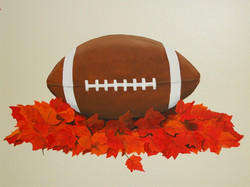 football mural