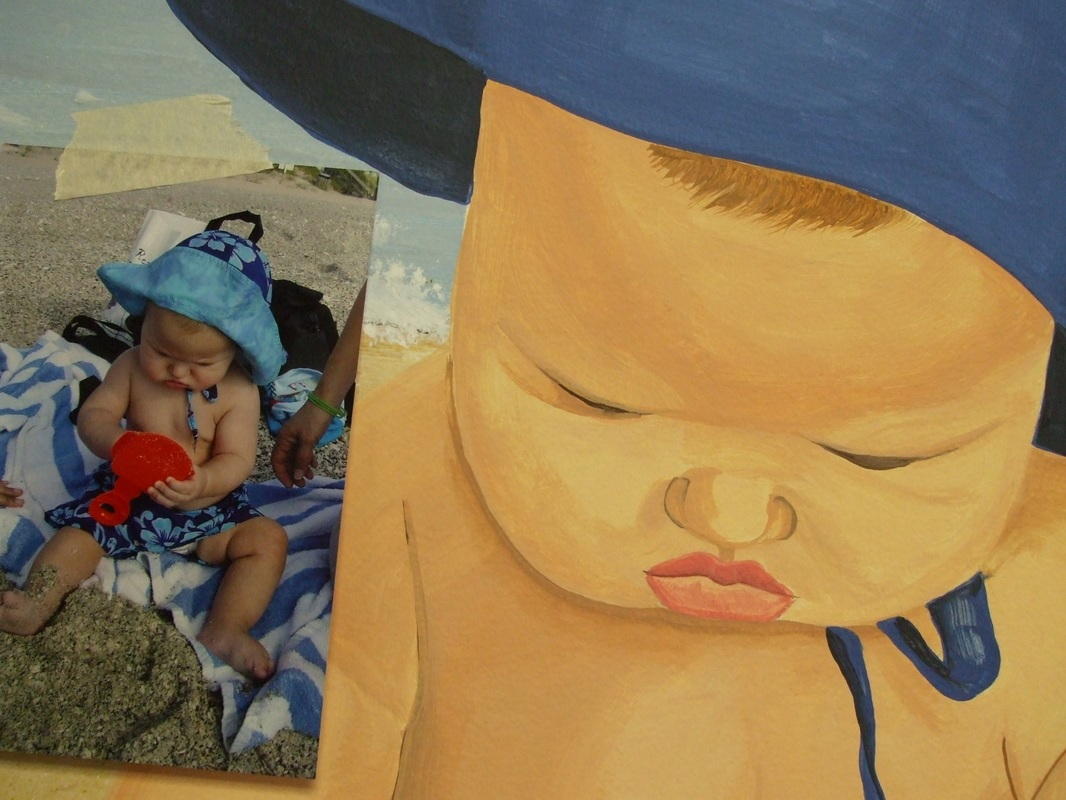 baby. on the beach mural
