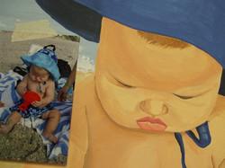 baby. on the beach mural