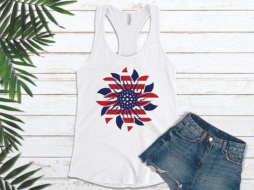 Sunflower Flag Ladies Tank Top