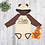 Thumbnail: Little Peanut Bear Onesie With Ears