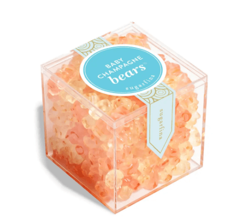 Champagne gummies are delicious ideas for white elephant gifts