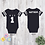 Thumbnail: Personalized M.V.B Football Jersey Onesie